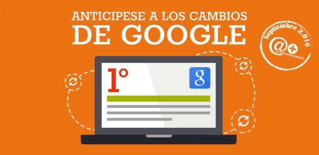 Cambios en Google Septiembre 2016