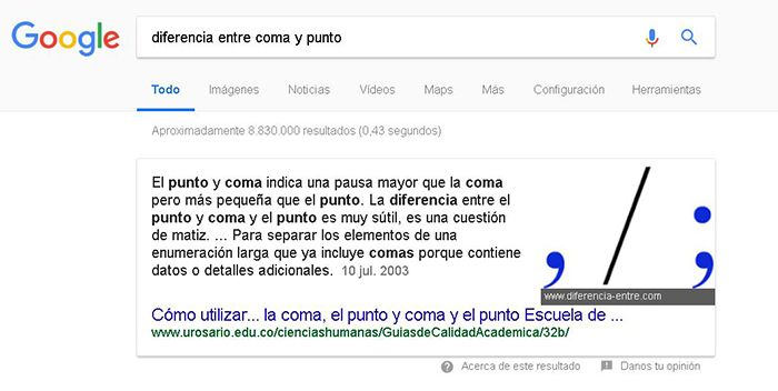 Featured Snippet texto y foto